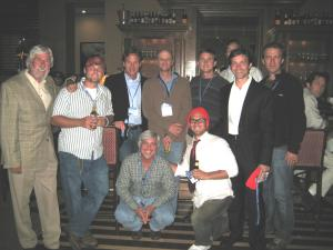 Jean-Michel Cousteau enjoys the company of many ocean conservationists/film makers including Nathan Dembeck, Michael Hanrahan, Matthew Ferraro, Jim Knowlton, Brian Hall, Fabien Cousteau, Aaron Raymond, Mike DeGury and Landon Lott.