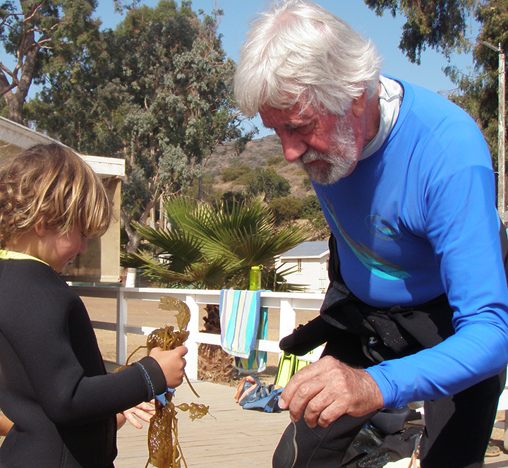 For five days every August, Jean-Michel Cousteau recharges his batteries by snorkeling with kids from all over the world, sharing his love for the kelp forest found in the shallow waters around the Channel Islands in Southern California.