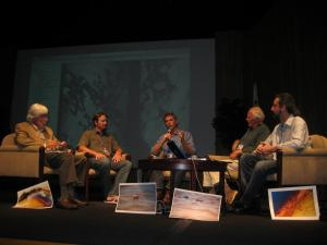 Jean-Michel Cousteau leads a panel, Gulf Oil Spill: Tragedy to Turning Point, at BLUE Ocean Film Festival with Dr. Chris Pincetich, Dr. Wallace J. Nichols, Dr. Richard Murphy and Dr. Ira Leifer