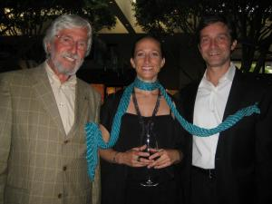 Jean-Michel, Fabien and Céline Cousteau at the BLUE Ocean Film Festival in Monterey, California.