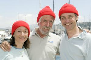 Céline, Jean-Michel and Fabien Cousteau