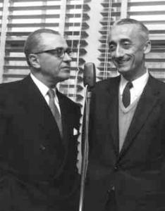 Jacques Cousteau and Emile Gagnan