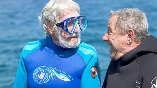 Jean-Michel Cousteau and Bob Meistrell